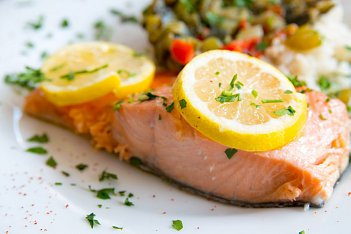 Green Tea Poached Salmon